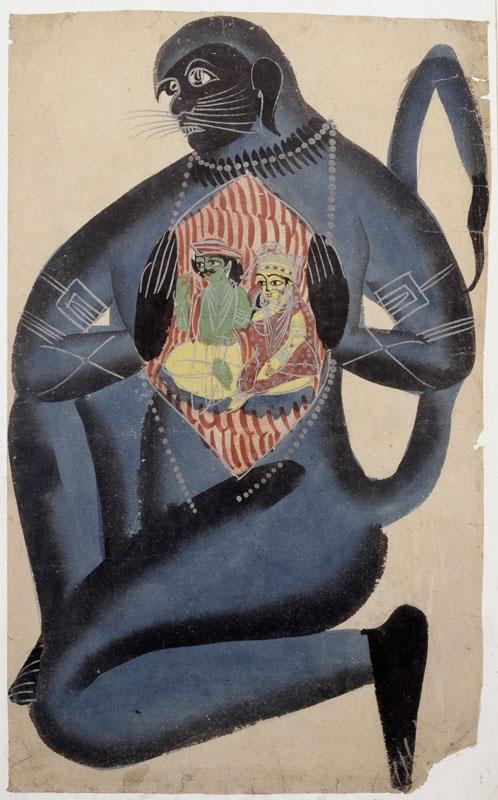 Hanuman Revealing Rama and Sita