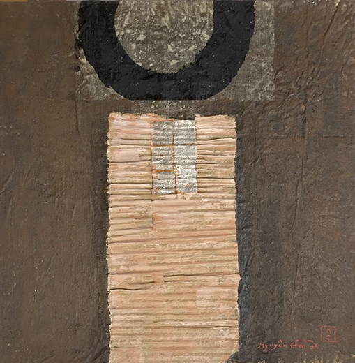 Nguyen Cam. Untitled III, 2006. Mixed media on canvas. 23.6 x 23.6 inches.