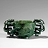 AN IMPERIAL GREEN JADE 'DRAGONS' WINE CUP