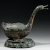 A LARGE BRONZE GOOSE-FORM INCENSE BURNER  Early Ming Dynasty, 14th - 15th Century  Height 14 1/2 inches (37 cm)  Length 18 3/4 inches (48 cm)